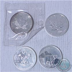 4x Canada  1oz .9999 fine commemorative silver maple leaf coins. (Tax Exempt). This lot includes the