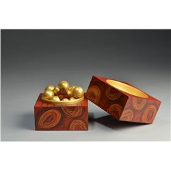 Kimberly Winkle | Box of Golden Spheres