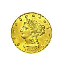 1905$2.50LibertyGOLDQuarterEaglePCGSMS63