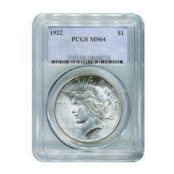 1922$1PeaceSilverDollar-PCGSMS64