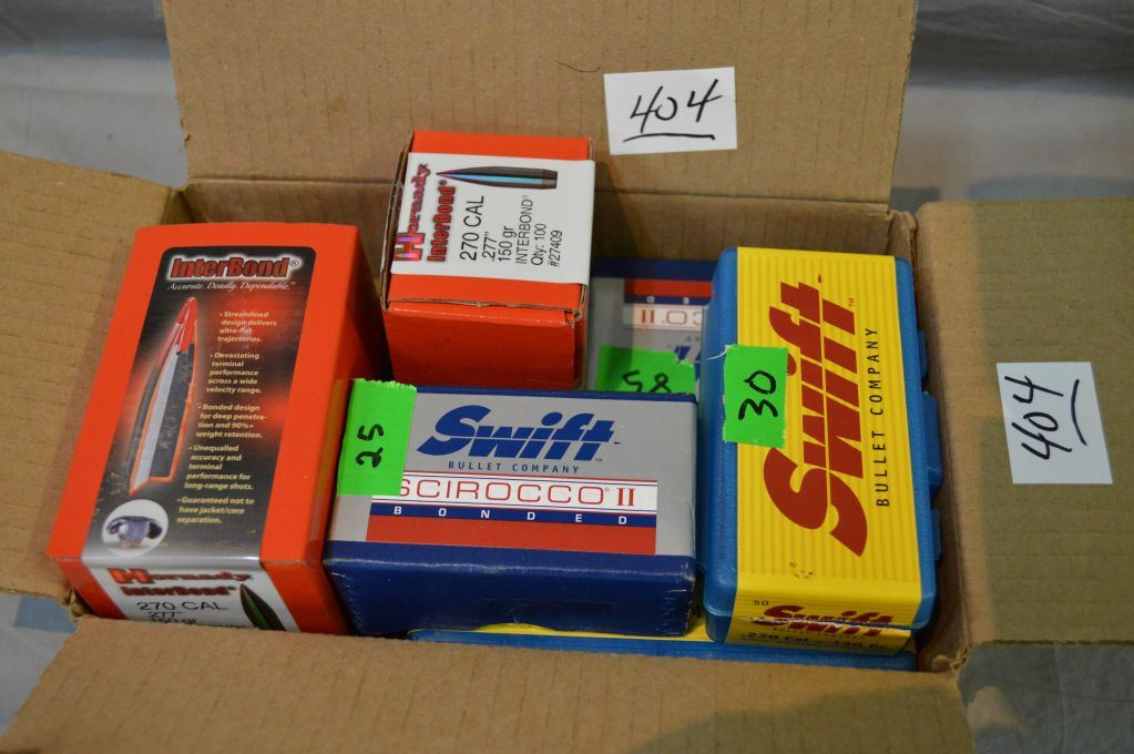 Box Lot : Boxes of Bullets : 1 Box ( 100 per ) Hornady  277