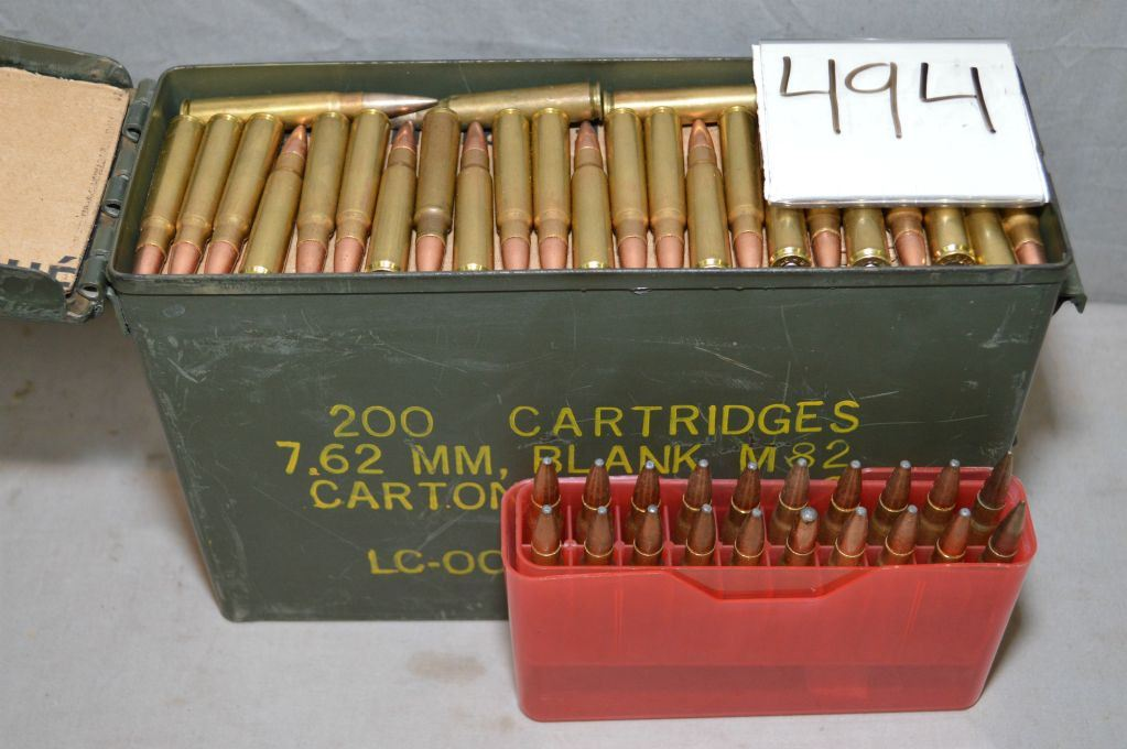 Small Green Metal Military Ammo Can : Approx 280 Rnds  8 MM