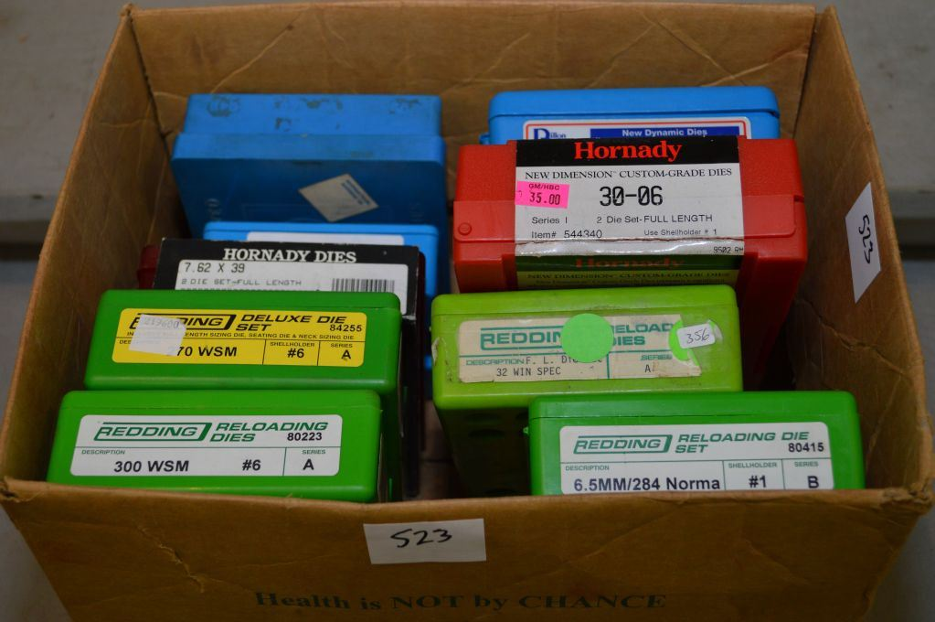 Box Lot : Assorted Dies : Dillon  41 Mag - CH 7 x 57 -  45 ACP
