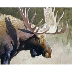 Moose Portrait, by Edward Suthoff