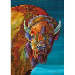 Big Sky Bison, by Nancy Dunlop Cawdrey