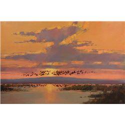 Sunrise on a Western Flyway, by David W. Mayer