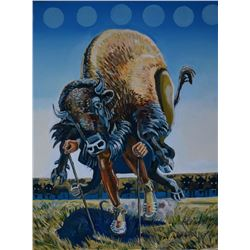 Blackfeet Buffalo Dancer series 004, by Paul Reevis