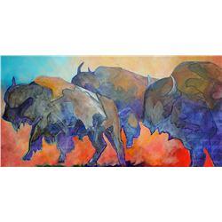 Bison, by Linda Loeschen