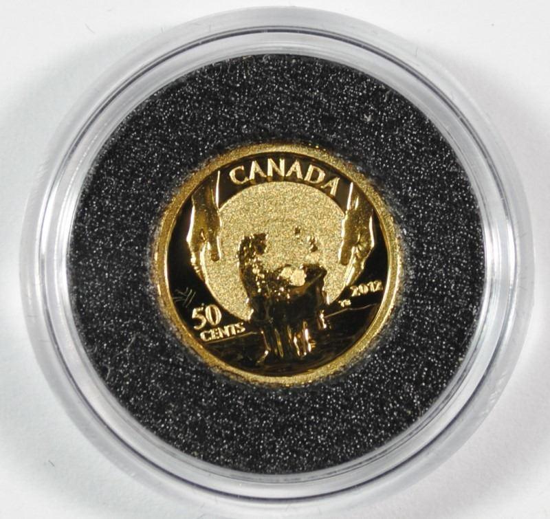 Fine Gold Coin 150/'th Anniversary of Cariboo Gold Rush 2012 1//25 Oz