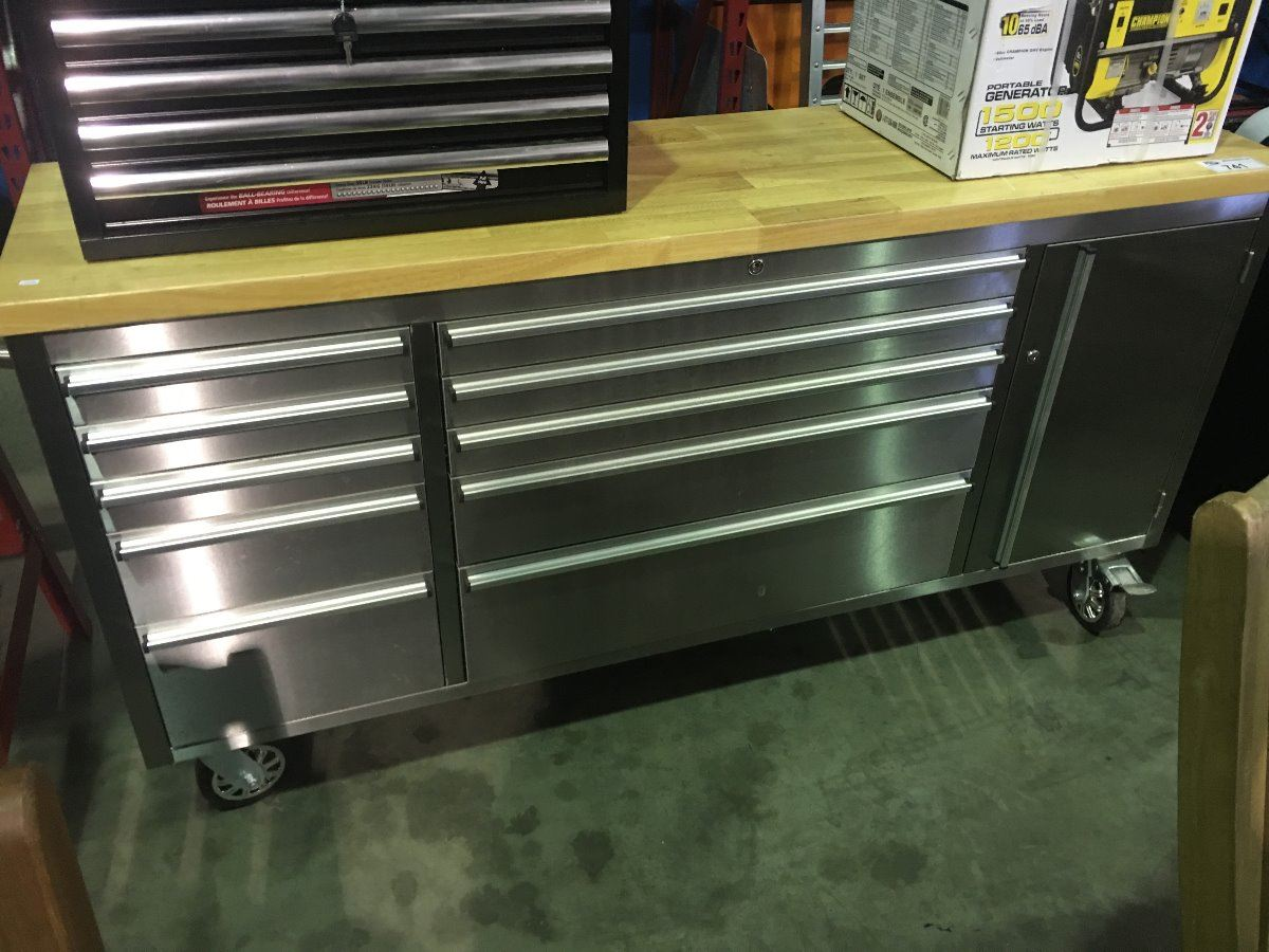 Sensational Mechanics Rolling Stainless Steel Cabinet Tool Bench Gmtry Best Dining Table And Chair Ideas Images Gmtryco