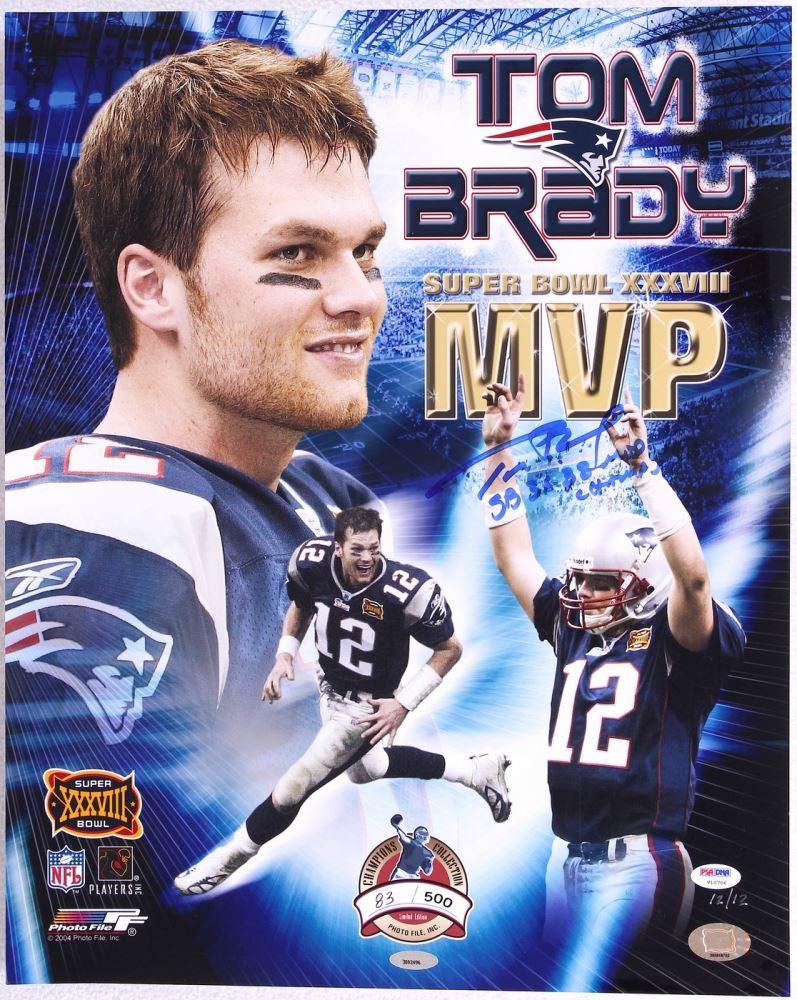 uk availability 1e610 87481 Tom Brady Signed Patriots LE 16x20 Super Bowl MVP Photo ...