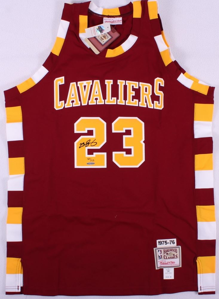 lowest price 306cb cf217 LeBron James Signed 1975-76 LE Cavaliers Authentic Mitchell ...