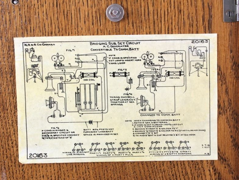 Antique Kellogg Oak Wall Telephone on rotary phone wiring diagram, phone jack wiring diagram, old phone wiring diagram,