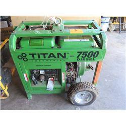 Titan 7500 Diesel Generator - 83 hrs on Meter - Has Keys