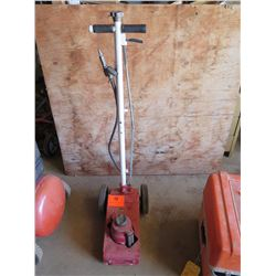Floor Jack (Red) with Wheels