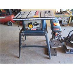 Ryobi 10-inch Table Saw and Ryobi DP102L Drill Press
