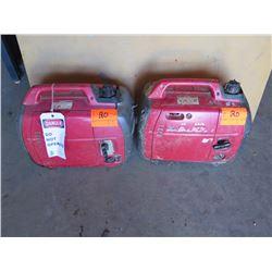 2 qty Honda Generators