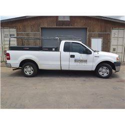 08 Ford F150 Pickup (Lic. 193 TSY) w/3 Weather Guard Job Boxes, Racks