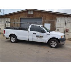 08 Ford F150 Pickup (Lic. 194 TSY) w/Weather Guard Job Boxes, Pipe Racks