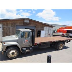 1987 International GVW25000 Flatbed Truck 20-Foot Bed (Lic. 909 TTA)