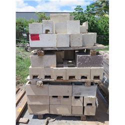 """Misc. Bricks (Contents of Pallet) - Approx. qty 80 Mixed: 16""""X8"""""""