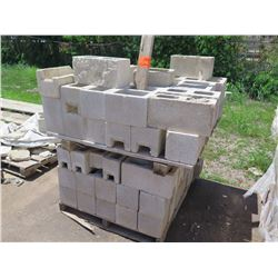"""Misc. Bricks (Contents of Pallet) - Approx. qty 60 (4""""X4""""), approx. qty 16 (4""""X8"""")"""