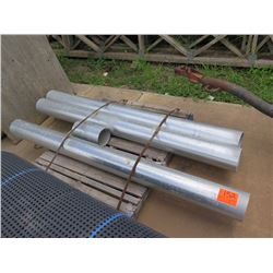 """Contents of Pallet: 4 Metal Pipes (Approx. 80"""" Long, 6.5"""" Diameter)"""
