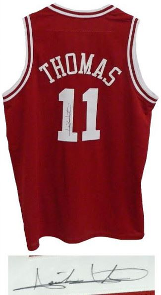super popular 445d8 ebb4c Isiah Thomas Signed Indiana Hoosiers Red Custom Jersey