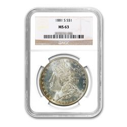 1881-S $1 Morgan Silver Dollar - NGC MS63