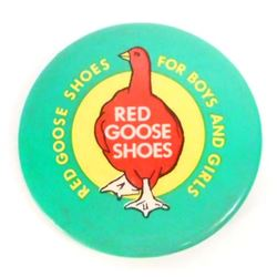VINTAGE RED GOOSE SHOES ADVERTISING POCKET MIRROR