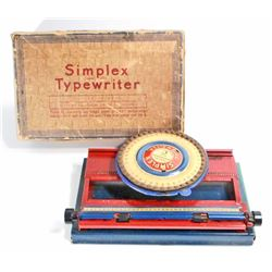 VINTAGE 1940S MARX TIN LITHO SIMPLEX TYPEWRITER IN ORIG. BOX