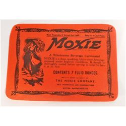 VINTAGE MOXIE SODA ADVERTISING BOTTLE LABEL