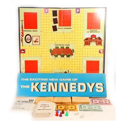 VINTAGE 1962 THE EXCITING BOARD GAME OF THE KENNEDYS