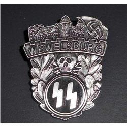 NAZI GERMAN WAFFEN SS WEWELSBURG CASTLE BADGE