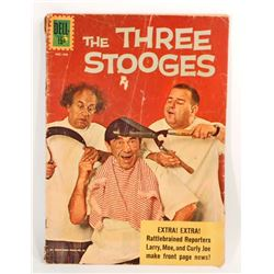 VINTAGE 1962 THE THREE STOOGES COMIC BOOK - 15 CENT COVER