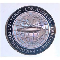 GERMAN NAZI HINDENBURG ZEPPELIN LAKEHURST - TOKIO - LOS ANGELES AIR SHIP BADGE
