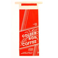 VINTAGE GOLDEN ROD ADVERTISING COFFEE BAG