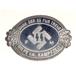 GERMAN NAZI WAFFEN SS FM HONORARY MEMBERSHIP PARTY BADGE
