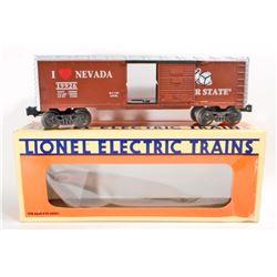 VINTAGE 1960S LIONEL I LOVE NEVADA BOX TRAIN CAR - 0 SCALE