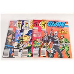 LOT OF 5 VINTAGE 1980S GI JOE COMIC BOOKS