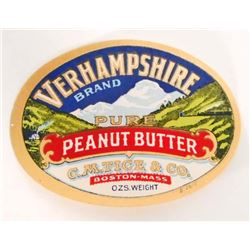 VINTAGE VERHAMPSHIRE BRAND PEANUT BUTTER ADVERTISING LABEL