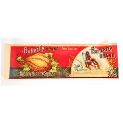 VINTAGE BUTTERFLY BRAND SQUASH ADVERTISING CRATE LABEL