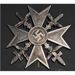 NAZI GERMAN SILVER CONDOR LEGION SPANISH CROSS W/ SWORDS