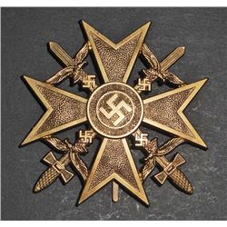 NAZI GERMAN GOLD CONDOR LEGION SPANISH CROSS W/ SWORDS