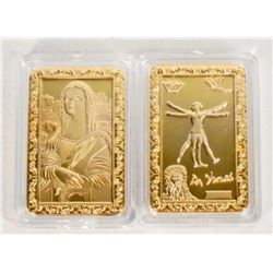 GOLD DA VINCI COMMEMORATIVE COIN / BAR