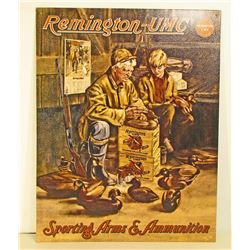 REMINGTON ARMS & AMMUNITION ADVERTISING METAL SIGN