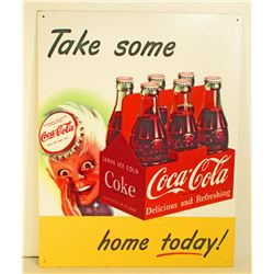 COCA-COLA ADVERTISING METAL SIGN