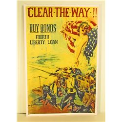 BUY BONDS LIBERTY US MILITARY POSTER PRINT