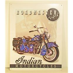 INDIAN MOTORCYCLES ADVERTISING METAL SIGN