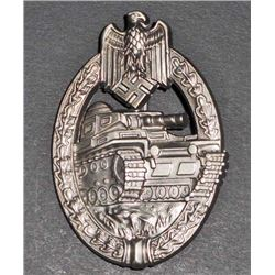 NAZI GERMAN ARMY SILVER TANK ASSAULT BADGE